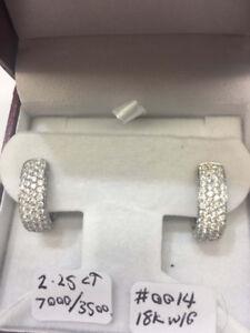 18 K 2.25 CT Diamond Earrings