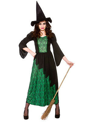 Sorceress Adult Costume Womens Ladies Wicked Witch Fancy Dress Halloween 10-28