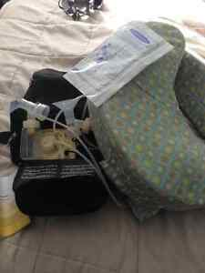 Medela double breast pump and nursing pillow