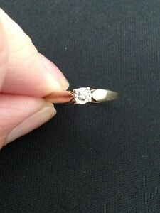 10 K Gold RIng with Diamond accent London Ontario image 3