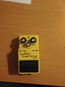 Boss Super OverDrive SD-1 MADE IN JAPAN