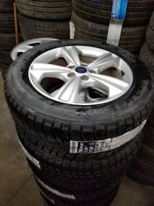 BNew 235 55 17 winters on OEM  Ford Escape alloy rims 5x108 TPMS