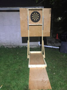 Dart board stand and cabinet