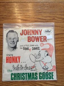 "Johnny  Bower ""Honky the Christmas Goose"" 45rpm w/ pic sleeve"