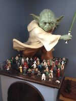 Star Wars figures for sale - AND a yoda statue