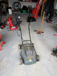 Small electric lawnmower