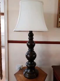 Vintage mid century west german large hooped table floor lamp light