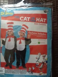 Cat In The Hat Costume sz 4-6 child