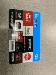 Dining Gift card for $20: Swiss Chalet