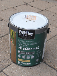 Wood stain green 3.43L tin