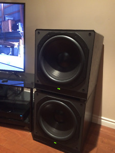 SELLING 2 MONSTERS! HIGH END PARADIGM SERVO 15 SEALED SUBS!