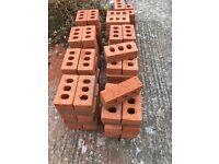 120 red rustic bricks new
