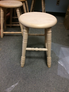 "18"" Wooden Stool - Factory Overstock Sale"