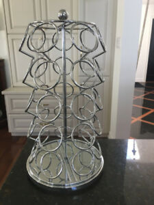 NEW Spinning  Stainless Keurig Coffee Pod Holder Caddy ORILLIA