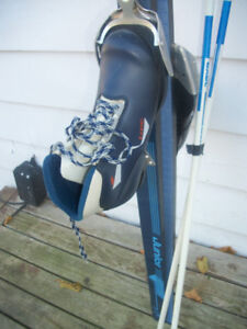 SELECTION OF CROSS COUNTRY SKI SETS .$50.00 AND & UP