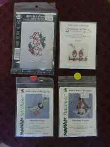 Christmas Themed Cross Stitch Kits - Lot of 4