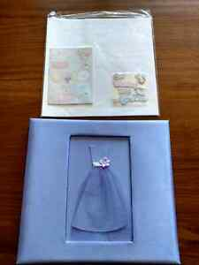 Wedding scrapbook album and paper