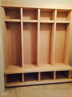 Finishing, custom wood work, renovation, shelving and more