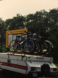 tent trailer bike/boat/canoe rack(holds up to six bikes)
