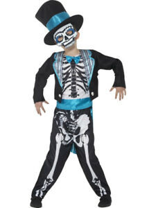 Smiffys boy Day of the Dead Groom Costume ( blue ) size M