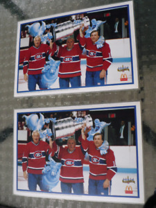 2 NAPPERONS JEAN BÉLIVEAU-GUY LAFLEUR-MAURICE RICHARD