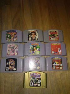 jeux de nintendo 64 n64 !!! conker, pokemon golden eye, mario
