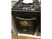 Montpellier black gas cooker