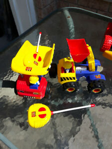 2 RC Radio Controlled Toy Trucks