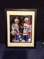 Montreal Canadiens pacioretty & gorges signed and framed photo