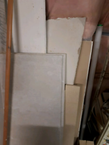 Cement board pieces ( dry wall is all gone)