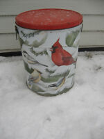 BIRD SEEDS WITH TIN STORAGE CANISTER