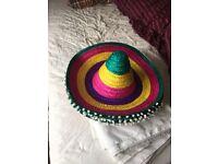 Mexican hats / sombreros x 6 fancy dress