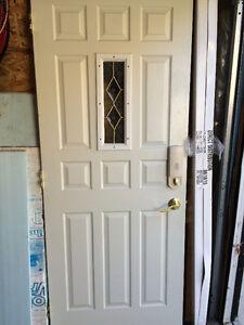 """80x32"""" white metal insulated exterior door"""