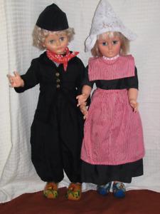 Dutch Boy and Girl Walking Dolls