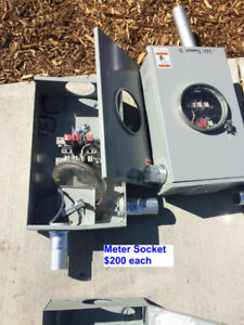 Electrical meter sockets, disconnects, splitters