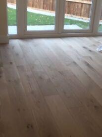 Engineered oak flooring British made pre sanded unfinished 11m2