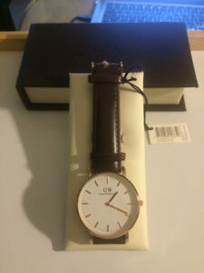 Daniel Wellington Brown Leather Watch (Comes With Original Box)