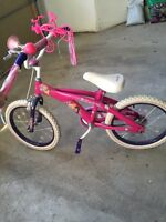 "Girls 16"" princess bike from toys r us."