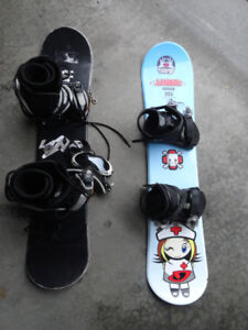 Snow Boards with Bindings - Great Condition!