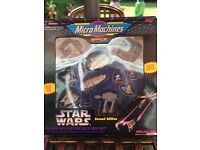 Vintage original Micro Machines Star Wars collectors set Numbered