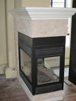New look and modern fire place