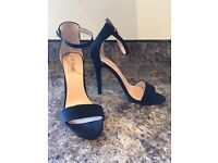 FIORE Barely There Suede Shoes Size 5 (like new worn once)