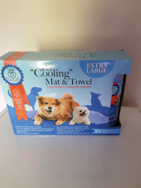 Dogs large cooling mat and towel