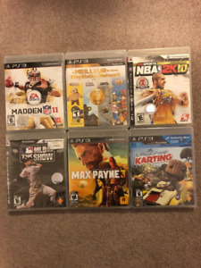 PS3 games, new and still sealed