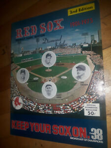 AD 1 of 3 - Red Sox Yearbooks/Scorebooks/Media Guides/Magazines
