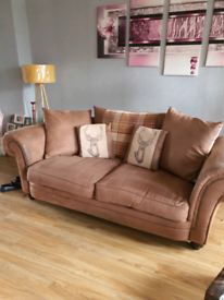 3 piece sofa 1 chair and pouffe