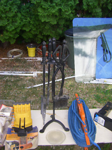 FIREPLACE TOOL SET AND MISC FIREPLACE IN & OUTDOOR TOOLS
