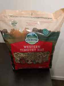 Unopened bag of western timothy hay for rabbits