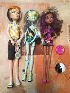 Monster High Gloom Beach set with Original Jackson Jeckyll Chris