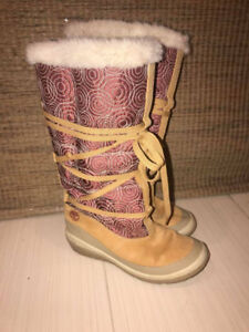 Authentic Timberland Ladies Leather/Cloth Winter Boots Size6